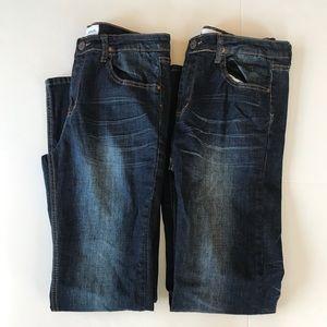 Hudson Girls Lot of 2 Denim Kaite Jeans Size 18